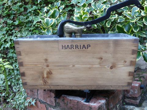 "Restored Wood & Brass High Level Toilet Cistern ""Harriap"" - Antique Pi – DragonQuarry Antiques & Restoration"