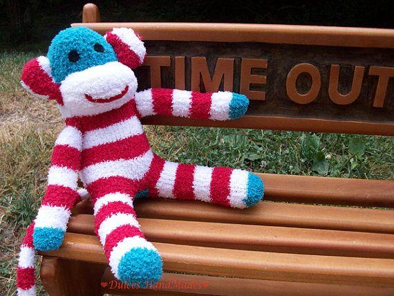 sock monkey $25Sock Monkeys, Socks Monkeys, Monkeys 25