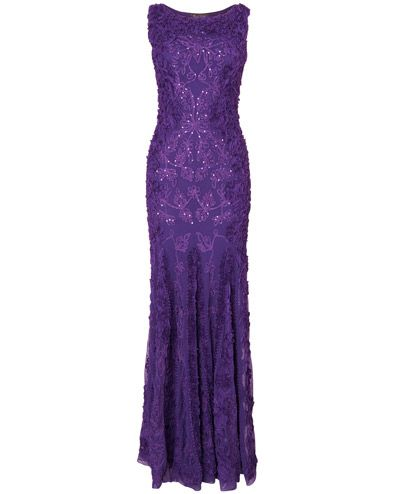 Women's Violet Liberty Tapework Full Length Dress