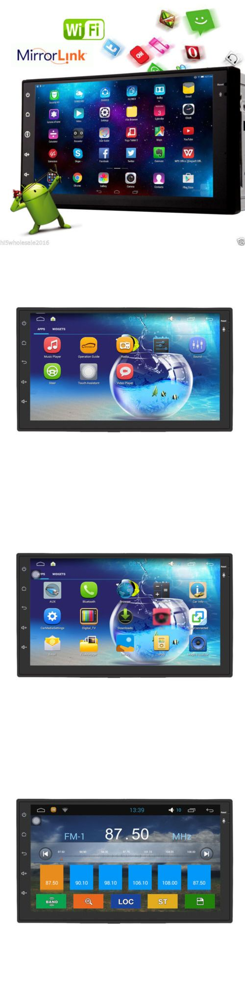 Vehicle Electronics And GPS: Hd 7 Android 4.4 3G-Wifi 2Din Car Stereo Radio In Dash Pc Tablet Gps Nav+Camera BUY IT NOW ONLY: $156.95