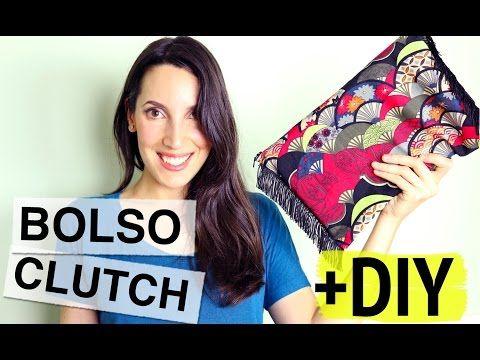Bolso Clutch de Tela y Flecos DIY - YouTube