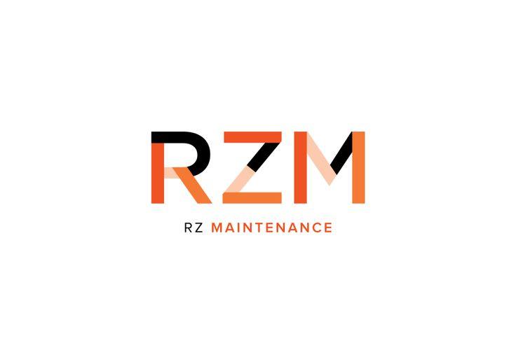 RZ Maintenance logo by Fletcher Creative #Logo #Branding #Icon #Identity #Typography