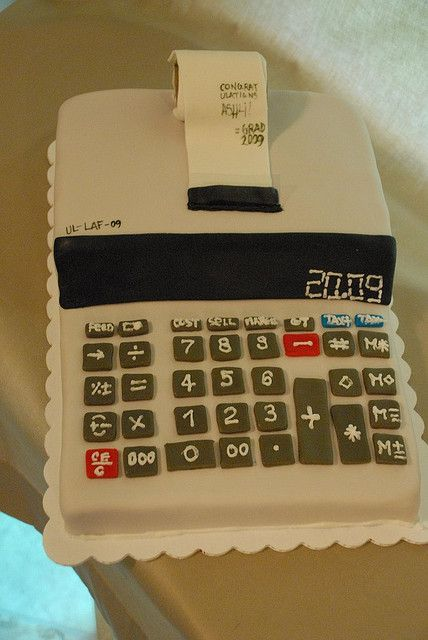 Accounting Major Cake by Belle Pastel, via Flickr. Would possibly vamp it up with a graduation cap and diploma.