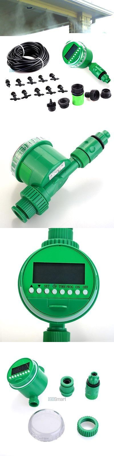Hose Nozzles and Wands 181015: Automatic Misting Cooling System Watering Irrigation Lcd Timer Kit Nozzles Spray -> BUY IT NOW ONLY: $35.99 on eBay! #wateringtimer