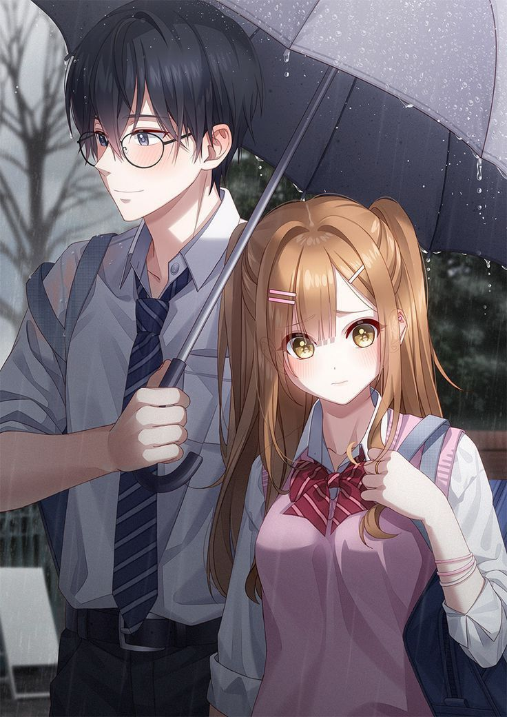 Anime Couple Fanart : anime, couple, fanart, Couple, Gadis, Animasi,, Gambar, Anime,, Wajah