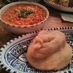ロス・バルバドス - 料理写真:白身魚とピーナッツのシチュー&フフ