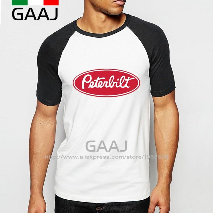 Peterbilt Trucks Man T-Shirt Raglan Sleeve High Quality Diy Car Brand Logo  Funny T