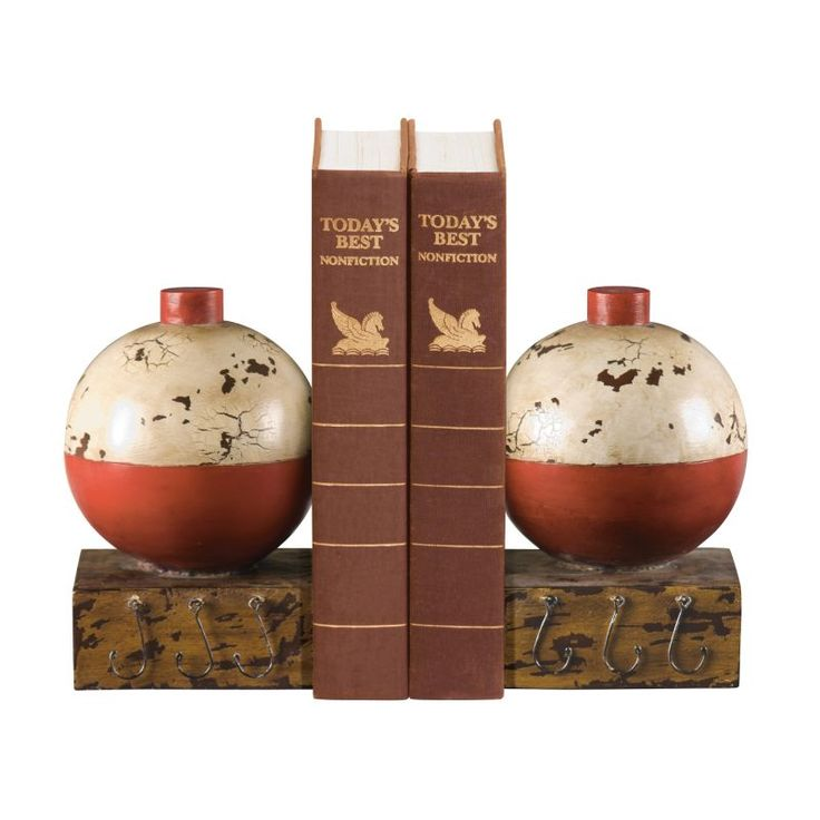 Sterling Industries 93-9262 Sterling Pair of Fishing Bobber Bookends Fishing Bobber Home Decor Accents Bookends
