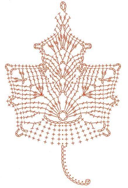 Crochet Lef - Chart ❥ 4U hilariafina  http://www.pinterest.com/hilariafina/