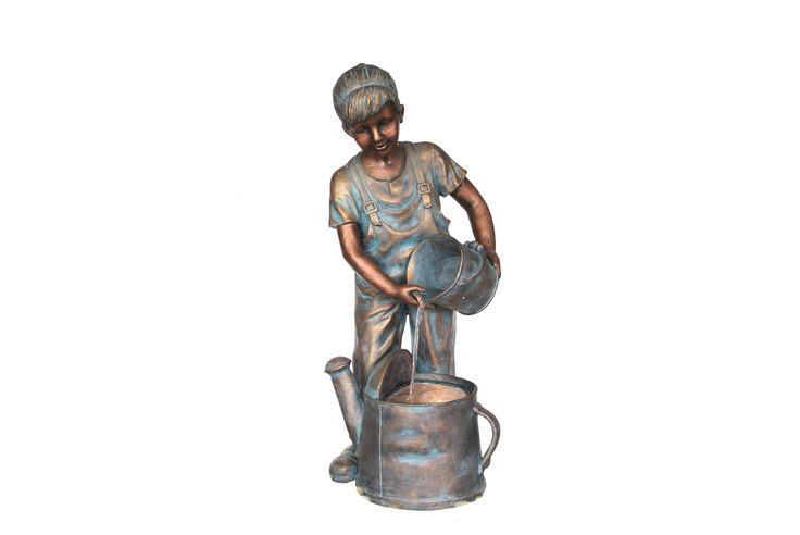 Boy with bucket resin water feature - 800mm high, includes pump & lights. Our enormous on-site warehouse in Perth is continually stocked with water features, meaning you can find what you love and take it home today! Drovers inside and out.