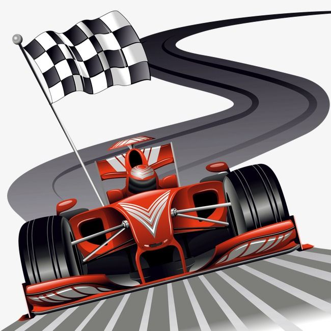 Decorative Vector Cartoon Racing Track Buggies Red Checkered Flag Png Transparent Clipart Image And Psd File For Free Download Red Car Cars Mural Red Sports Car