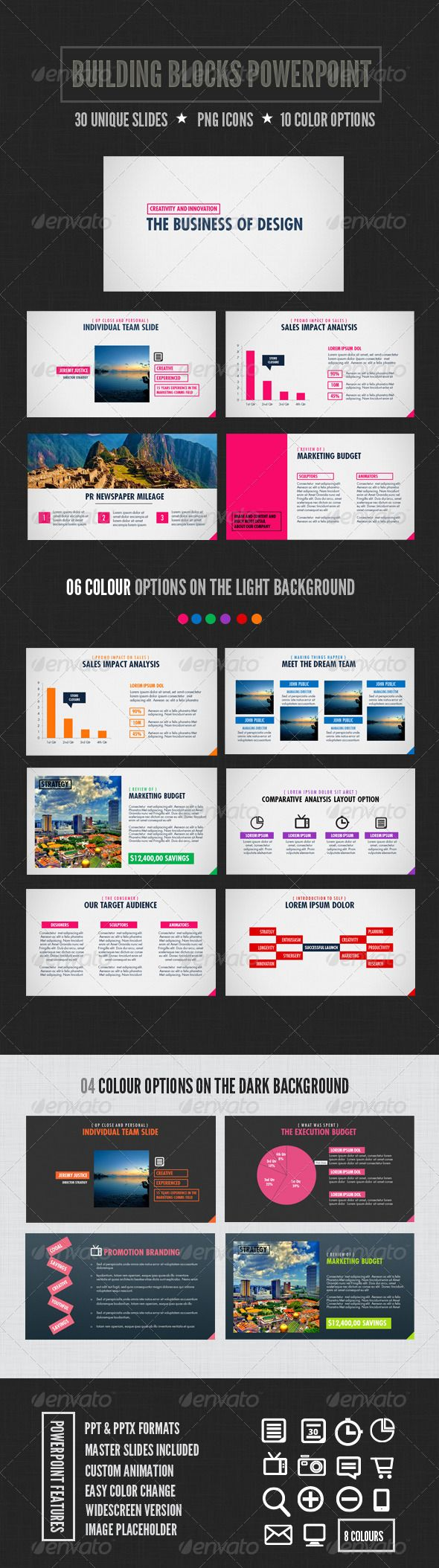 Building Blocks Powerpoint - GraphicRiver Item for Sale