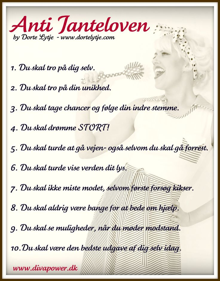 #Diva Anti Jante remindere  divablog.dk/shop