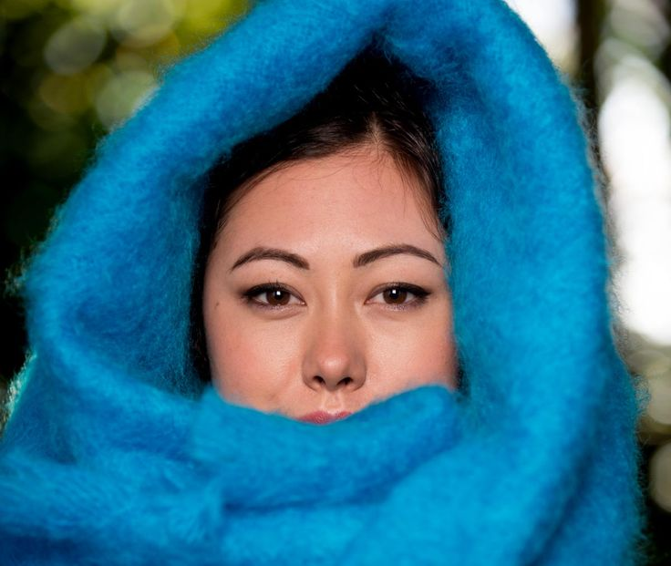 Stay warm this winter and wrap up in a mohair throw blanket by Gorgeous Creatures.