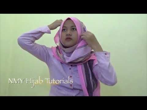 Easy Hijab Tutorials Style Of Pashmina Scarves Hijab For Daily - YouTube