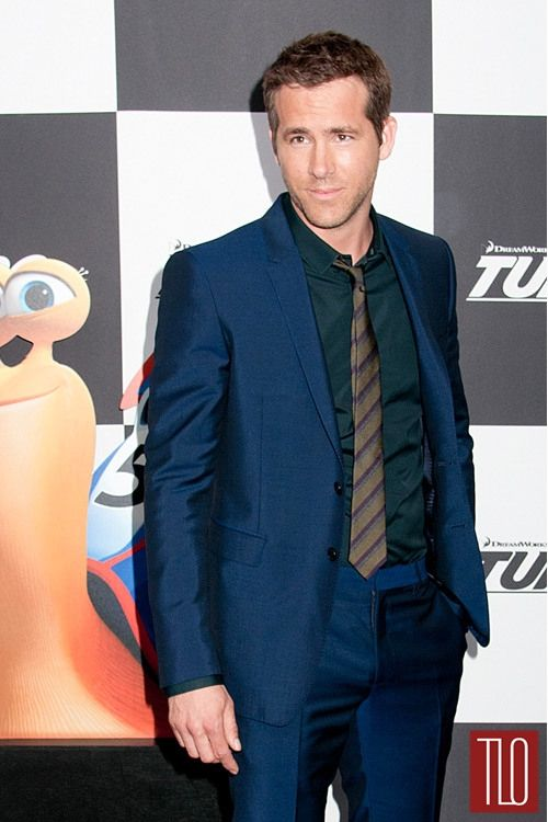 "Ryan Reynolds in Burberry at the ""Turbo"" Premiere 