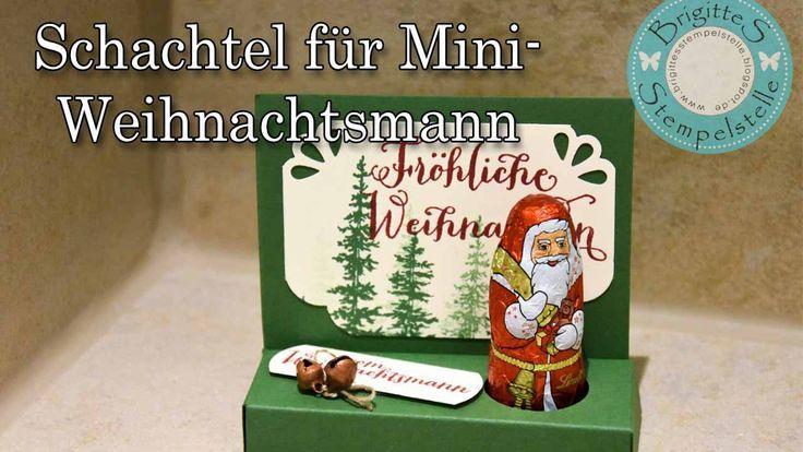 Schachtel für Lindt Mini Weihnachtsmann