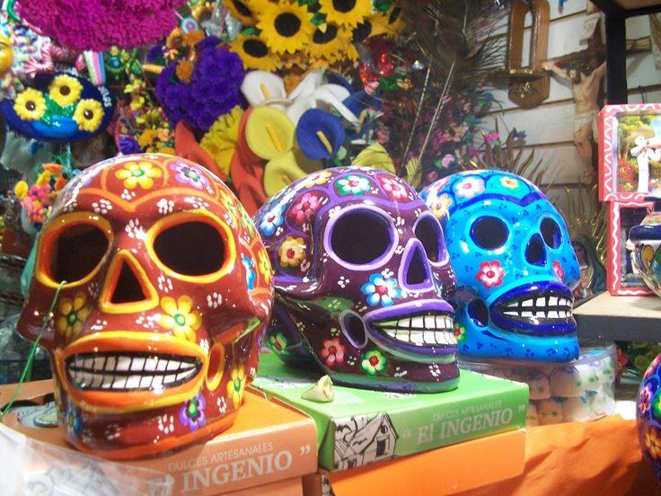 Festividades de dia de muertos, en Coyoacàn