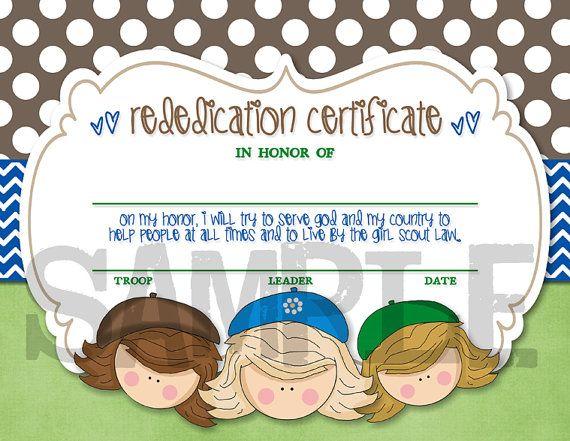 junior rededication certificate | just b.CAUSE