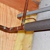 Insulation to help prevent water pipes from freezing
