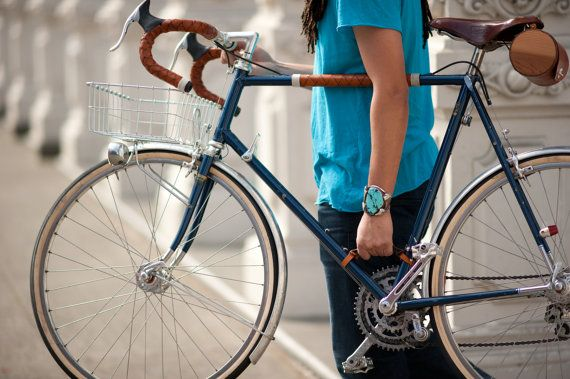 For your favorite cyclist: a leather strap that makes carrying your bike a breeze.