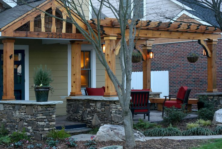 Front Porch Pergola   front-porch-addition-pergola–by-creative-abundance-charlotte-nc