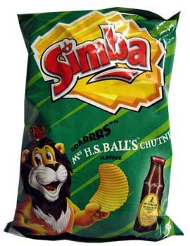 Simba Mrs Balls Chutney Chips (125g).  SIMPLY THE BEST!