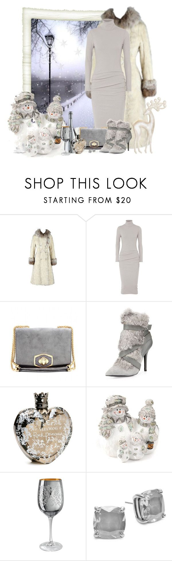 """""""me faz frio, mostre-me a neve"""" by sil-engler ❤ liked on Polyvore featuring James Perse, Nina Ricci, Charles Jourdan, Vera Wang, Artland and Kate Spade"""