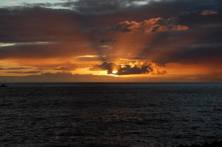 Makaha, Hawaii, Saturday's sunset.