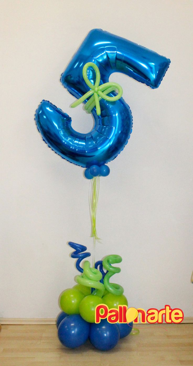 birthday number balloon bouquet 5