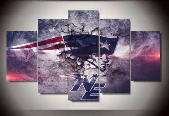New England Patriots Football Canvas Wall Art team 5pcs Painting HD Poster Decor #Unbranded #FootballCanvas