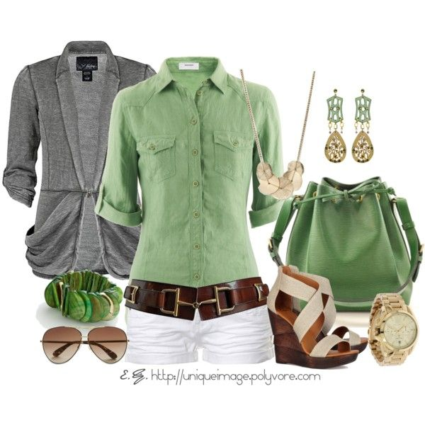 Spring Outfits | Green LV Handbag | Fashionista Trends