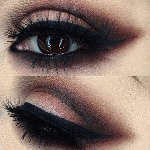 beautiful chocolatey smokey eye using the DARK MATTER stack eye shadows!