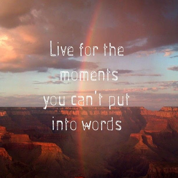 Live Quotes: Live For The Moments You Can't Put Into Words