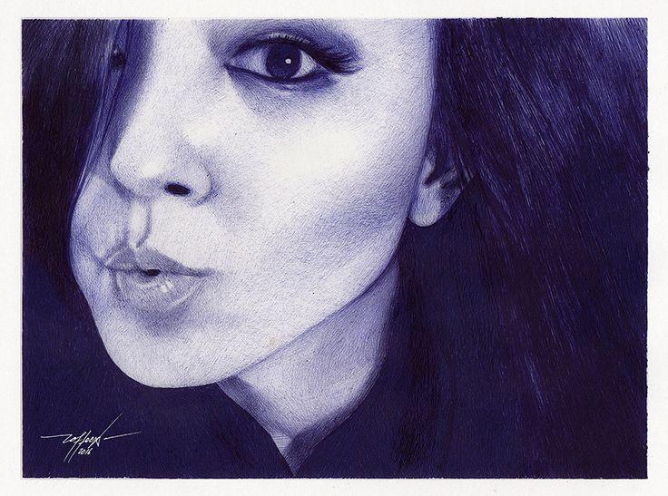 Portrait02 drawing pen #ballpoint
