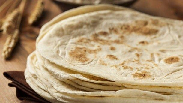 Weizenmehl-Tortillas selbst gemacht