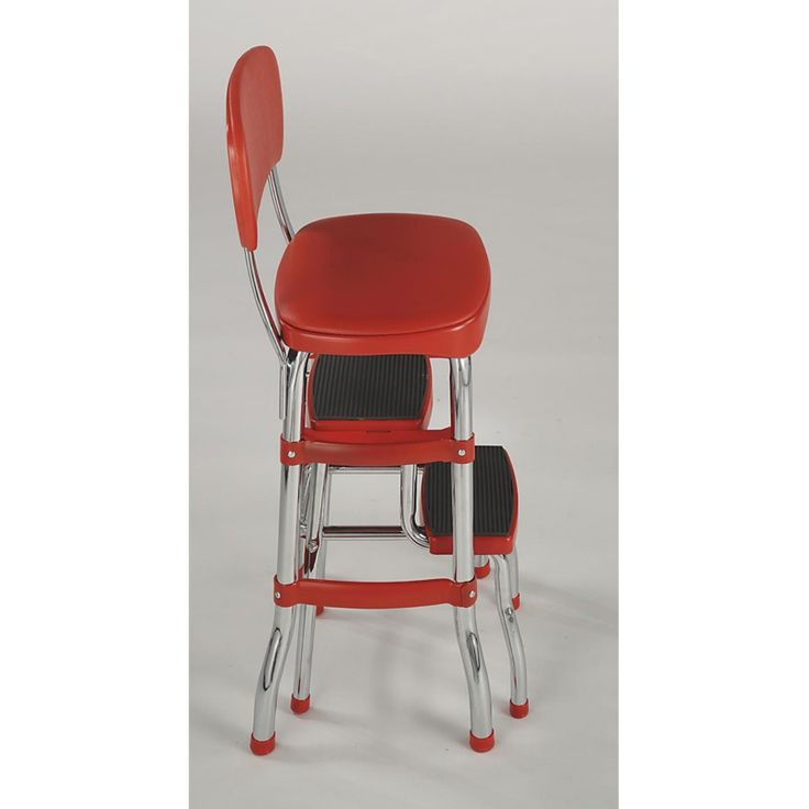 Cosco stylaire retro chair step stool with sliding steps