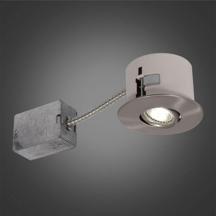 Brushed Chrome LED Recessed Lighting Fixture With Designed For Ceiling  Clearance