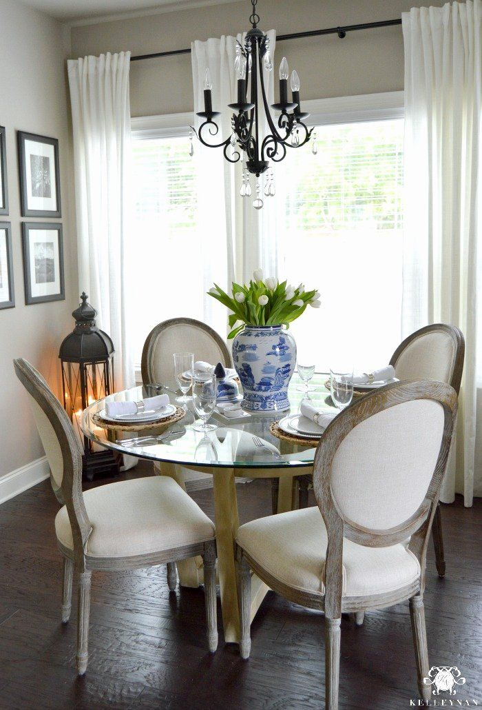 Dining Room Table Centerpieces Everyday Elegant A Casual Everyday Table Setting And Dining Room Table Centerpieces Dining Table Decor Round Glass Kitchen Table