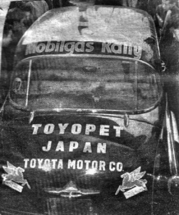 1957 Mobilgas Round Australia Rally: Toyopet Crown of Tetsuo Hosoya, an early appearance of Japanese cars in Australia