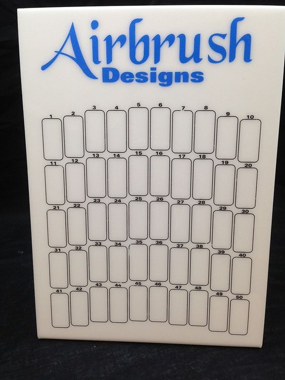 Blue Airbrush Designs 50 Slot Nail Tips Display Board (Quantity  5 Pieces) * You can get more details by clicking on the image.