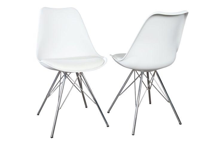 Krzesło Astoria New retro białe (nowa wersja)
