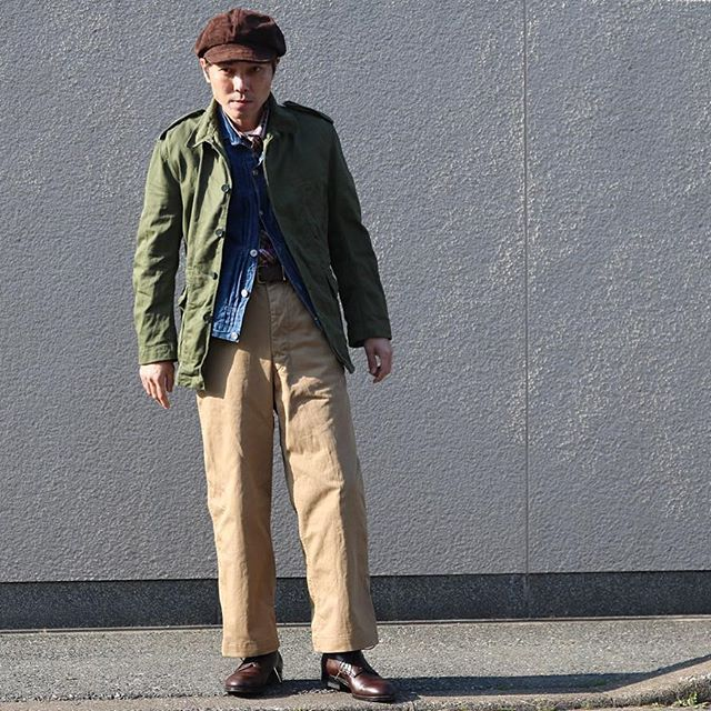 2017/03/12 16:27:06 __t.k.a 1667s British Army Field Jacket × 1943s USMC Khaki Trousers _ #60s #Britsharmy #fieldjacket  #LVC #levisvintageclothing  #40s #USMC #USmarinecorp #trousers #ALDEN #modifiedlast  #オールデン #mensstyle  #militarystyle  #vintage #vintagestyle  #canon  #canoneos  #canon_photos  #canoneoskissx8i  #一眼レフ #福岡 #FUKUOKA