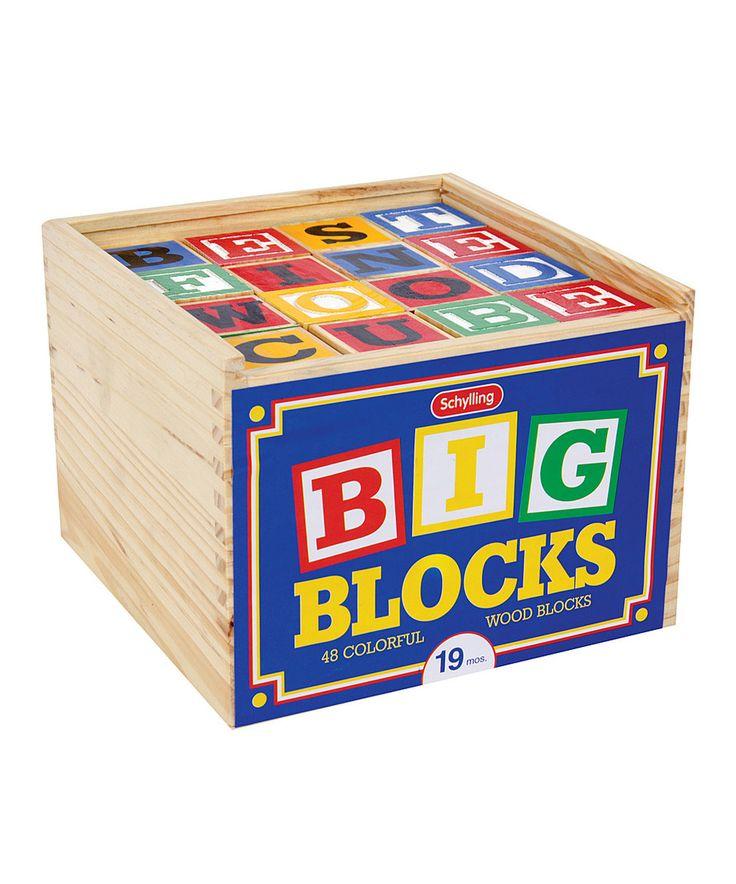 Look at this #zulilyfind! Large ABC Alphabet Block Set by Schylling #zulilyfinds