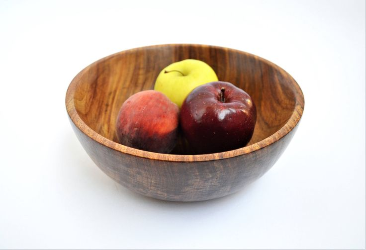 Wooden fruit bowl Hand turned bowl wood candy bowl Popcorn
