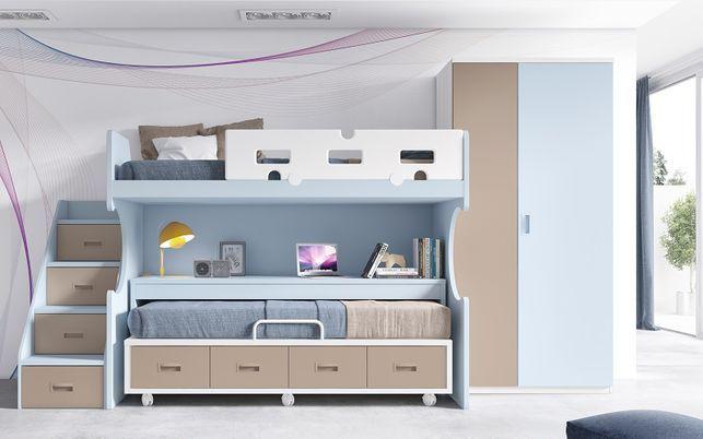 Este diseño más original nos muestra como en poco espacio puede haber varias cosas. ¡Increíble escalera y escritorio!