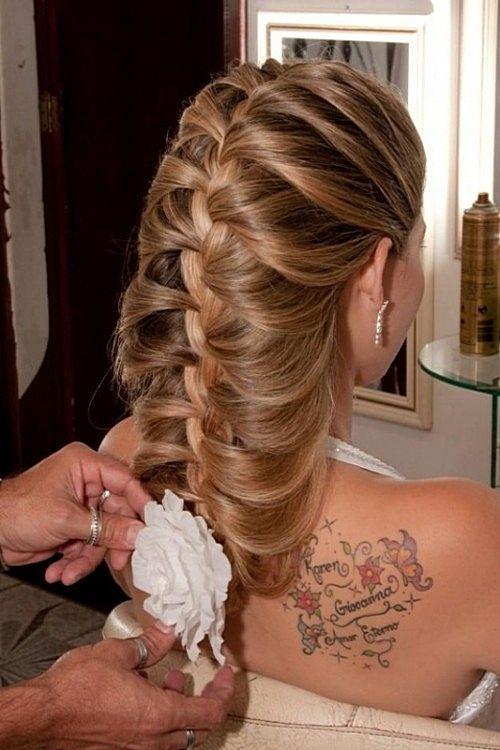 Причёска коса с чёлкой