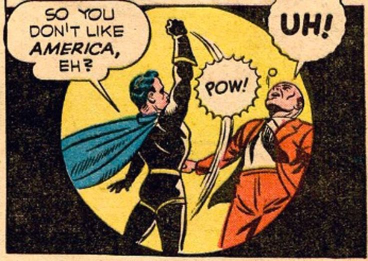 Vintage Gay Comics , circa , 1945.  Dressed in leather , Captain Skull wen't on to beat Hiram to a pulp then dishonor him by not sleeping with him...but did drop him off at the men's room with the new glory hole  just installed ...