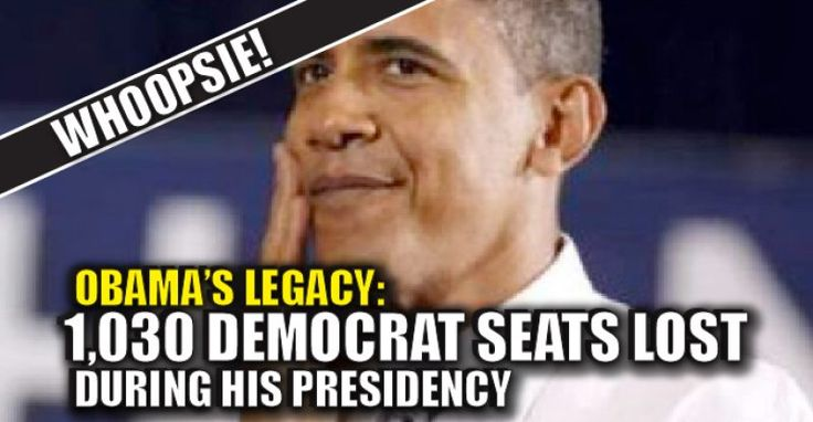 VIDEO : Obama's Legacy – 1,030 Democrat Seats LOST During His Presidency – TruthFeed