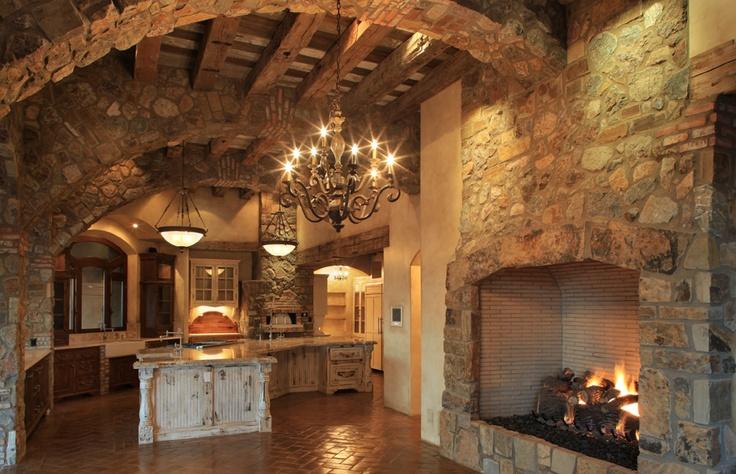 Tuscan style mansion